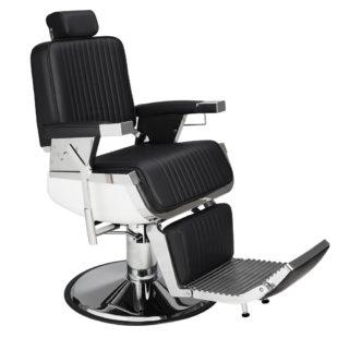 fotel dla barbera lord ayala czarny solidny