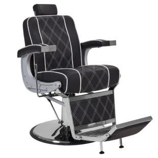 klasyczny i stylowy fotel barberski ayala borg czarny
