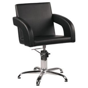 fotel tapicerowany fryzjerski tina tapicerowane podłokietniki