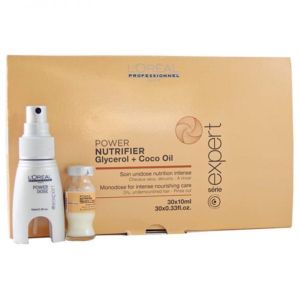 Kuracja odżywcza w ampułkach do włosów suchych Loreal Nutrifier 30x10ml