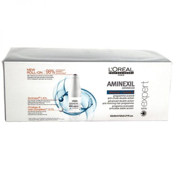 Kuracja przeciw wypadaniu włosów w ampułkach Loreal Aminexil Advanced 42x6ml