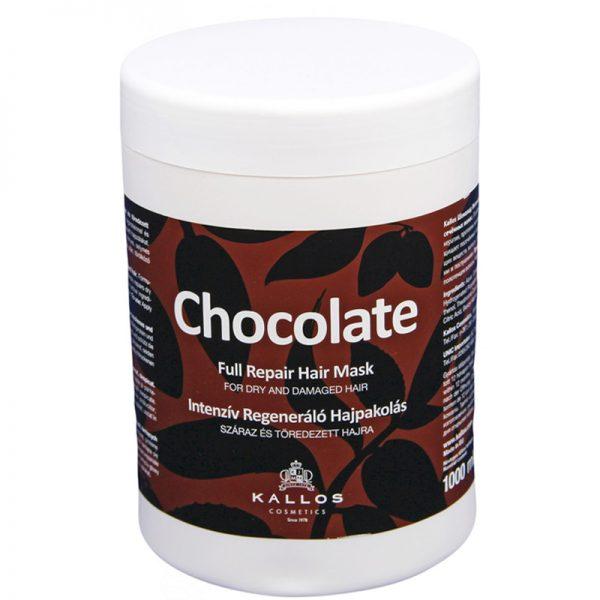 Maska do pielęgnacji włosów suchych i zniszczonych Kallos Chocolate Full Repair Hair Mask 1000ml