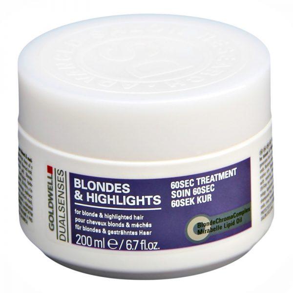 Maska do włosów blond i z pasemkami Goldwell Dualsenses Blondes & Highlights 200ml