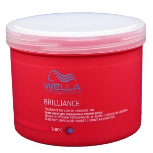 Maska do włosów farbowanych grubych Wella Professionals Brilliance Thick Treatment 500ml