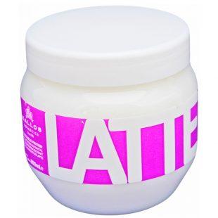 Maska do włosów zniszczonych Kallos Latte Hair Mask with milk protein 800ml