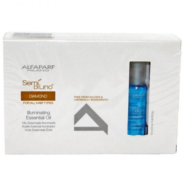 Olejek rozświetlający włosy Alfaparf Semi Di Lino Diamond Illuminating Essential Oil 12x13ml