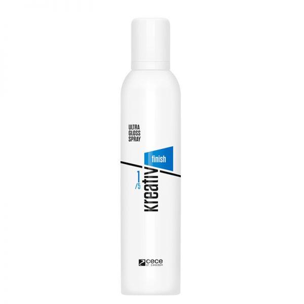 Spray do włosów ultra nabłyszczający Cece Kreativ Finish Ultra Gloss 300ml