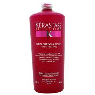 Szampon do wrażliwych włosów farbowanych Kerastase Reflection Bain Chroma Riche 1000ml - Szampon do włosów wrażliwych , rozjaśnionych lub z pasemkami