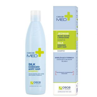 Szampon nawilżający do włosów suchych i zniszczonych Cece Med Silk Damaged & Dry Hair Silk 300ml
