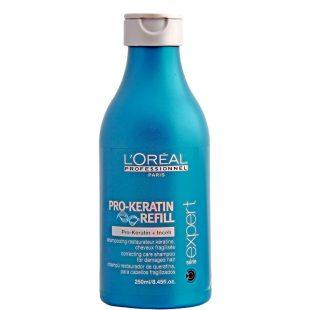 Szampon odbudowujący do włosów suchych i zniszczonych Loreal Pro Keratin Refill 250ml