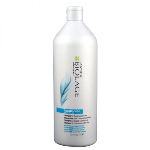Szampon odbudowujący do włosów wrażliwych Matrix Biolage Advanced Keratindose 1000ml