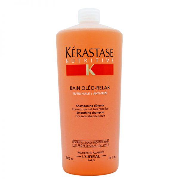 Szampon wygładzający do włosów suchych Kerastase Nutritive Bain Oleo Relax 1000ml