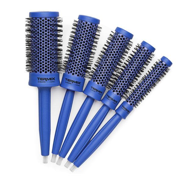 szczotki do modelowania zestaw termix niebieskie