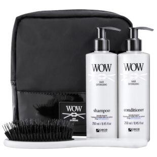 zestaw do włosów przedłużanych w kosmetyczce