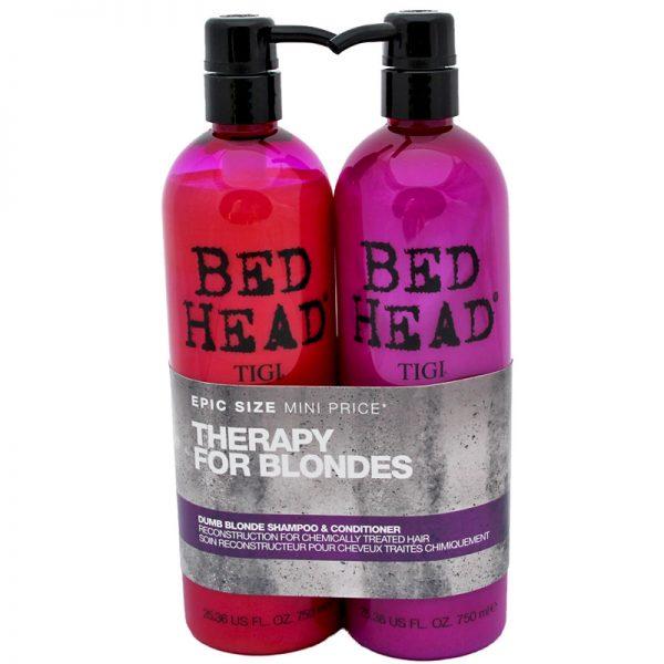 Zestaw odbudowujący włosy Szampon + Odżywka Tigi Bed Head Theraphy For Blondes 2x750ml