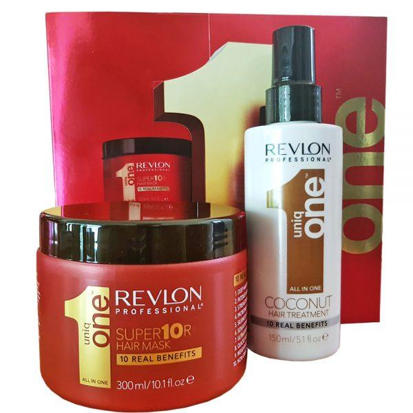 Zestaw regenerujący maska i kuracja Hair Treatment Revlon Uniq One Coconut