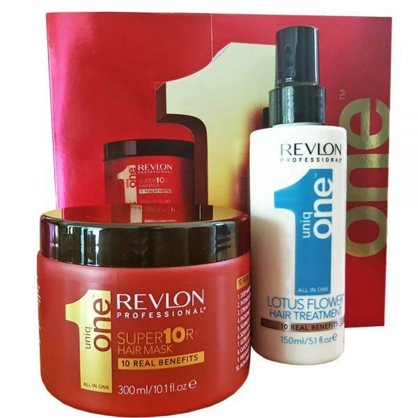 Zestaw regenerujący maska i kuracja Hair Treatment Revlon Uniq One Lotus